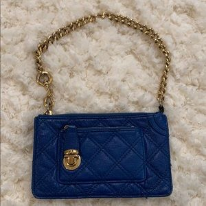 Marc Jacobs Blue pouchette with gold hardware